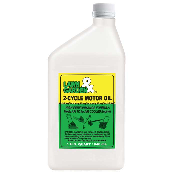 Lawn garden 2 cycle oil 1 quart comolube for Used motor oil sds
