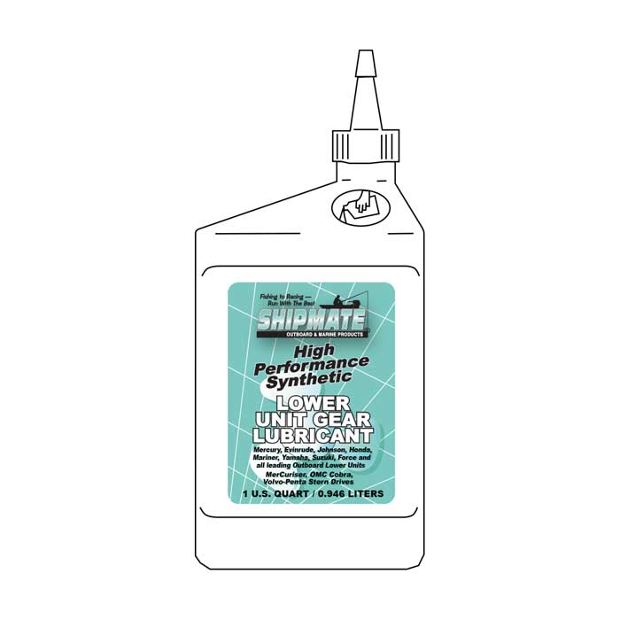 Shipmate Lower Unit Synthetic 75W-90 Marine Gear Lube