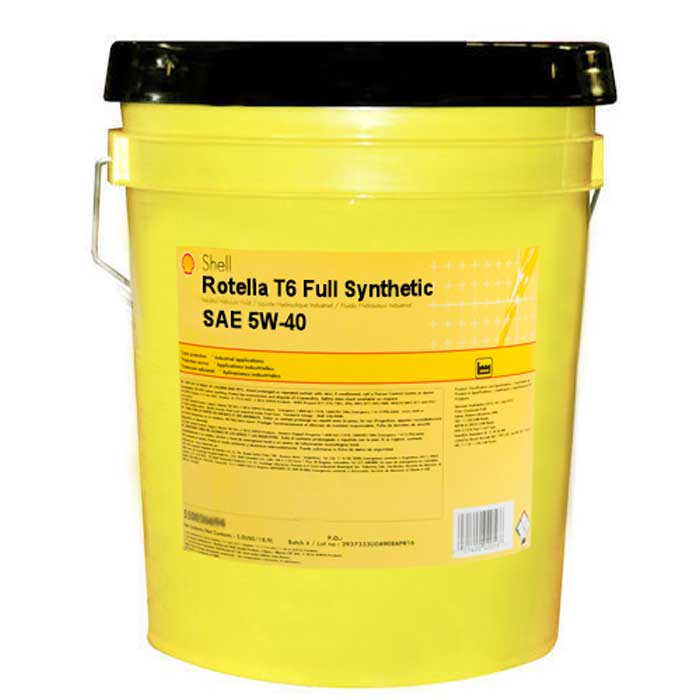 Shell rotella t6 full synthetic sae 5w 40 5 gallon pail for Shell rotella t6 5w 40 diesel motor oil