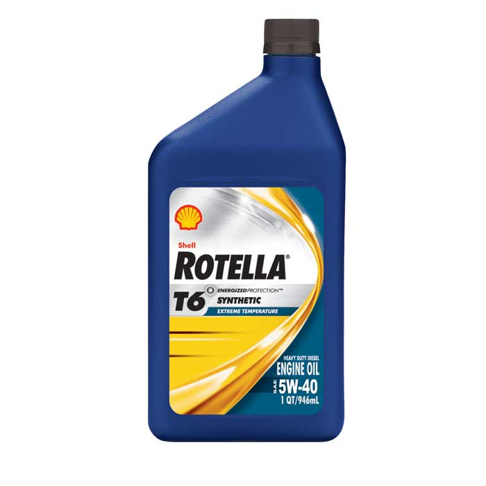 Shell rotella t6 full synthetic sae 5w 40 6 1 quart case for Shell rotella t6 5w 40 diesel motor oil