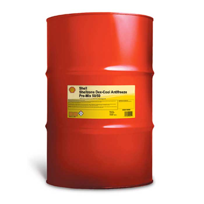SHELL Dex-Cool Extended Life 50/50 Antifreeze – 55 Gallon