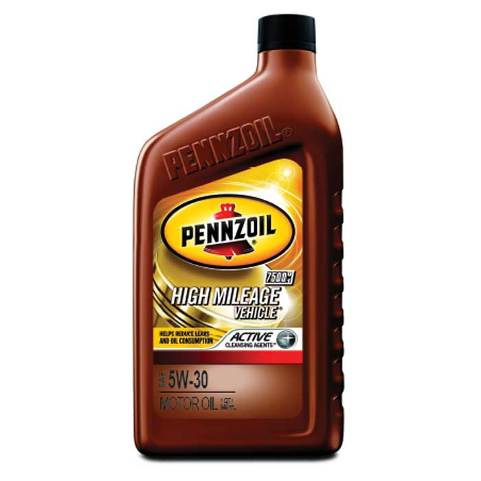 Pennzoil high mileage motor oil sae 5w 30 6 1 quart case for Used motor oil sds