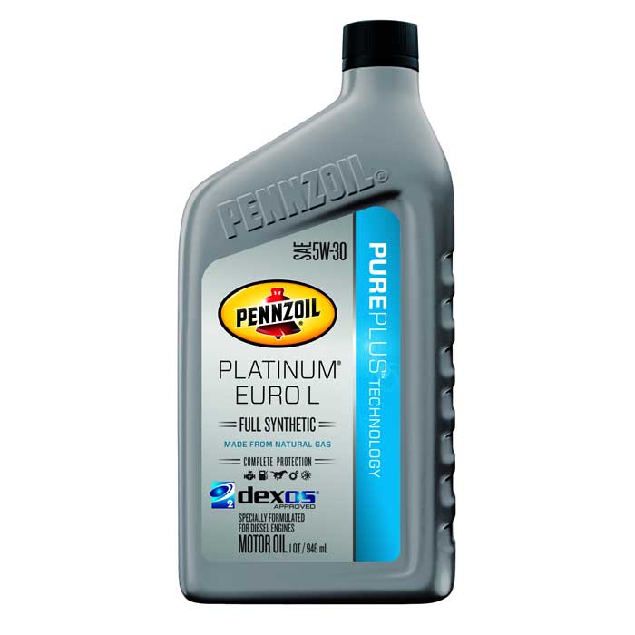 Pennzoil platinum euro l sae 5w 30 6 1 quart case comolube for Pennzoil 5w 30 synthetic motor oil