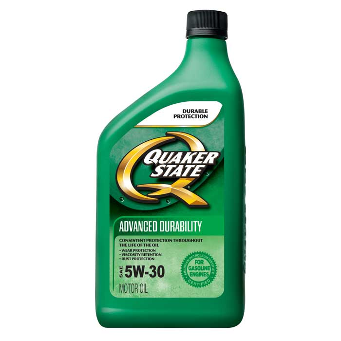 Quaker state advanced durability sae 5w 30 12 1 quart for Used motor oil sds
