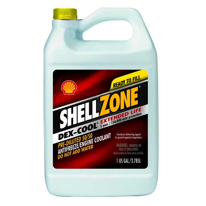SHELL Dex-Cool Extended Life 50/50 Antifreeze – 6/1 Gallon