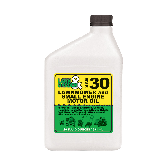 Lawn garden 4 stroke small engine oil sae 30 20 oz for Heavy weight motor oil