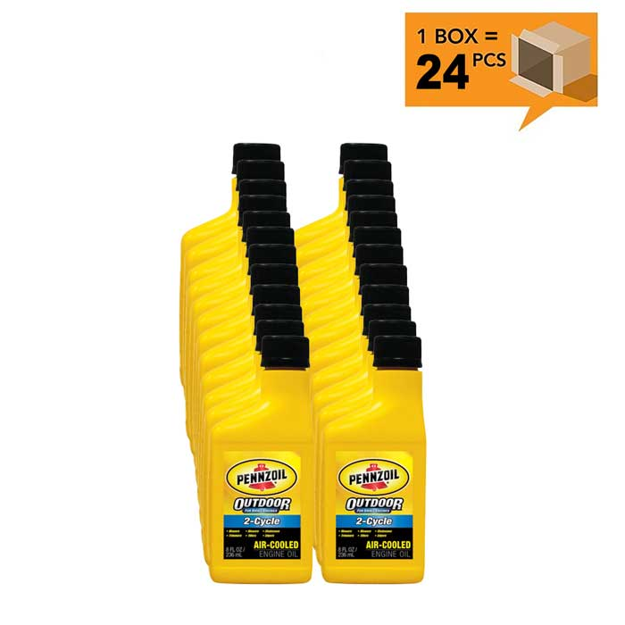Pennzoil 2 Cycle Air Cooled Engine Oil 24 8 Oz Case